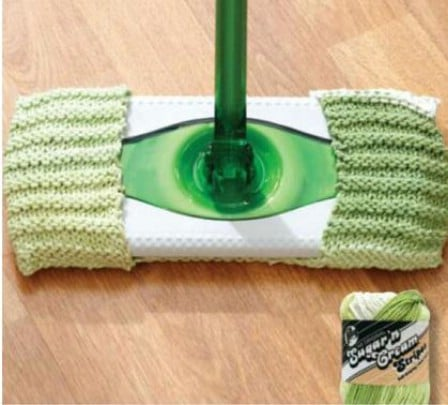 Knit Swiffer Pad - 30 Super Easy Knitting and Crochet Patterns for Beginners