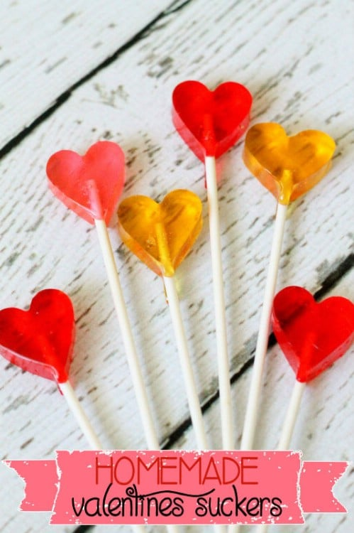 Homemade Valentine's Day Suckers - 20 Tasty and Romantic Valentine's Day Treats You Will Love