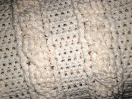 Crochet Cable Baby Blanket - 30 Super Easy Knitting and Crochet Patterns for Beginners