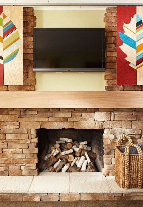 Install Sliding Panels - 10 Brilliant Ways to Disguise Your Flat Screen TV