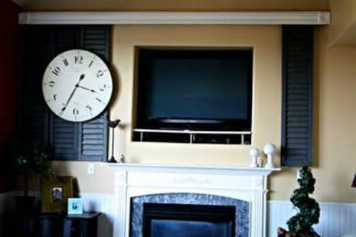 Close the Shuttersr - 10 Brilliant Ways to Disguise Your Flat Screen TV