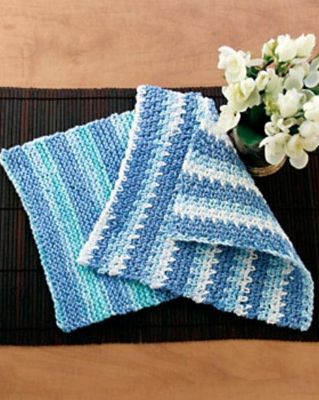 Knit Dishcloths - 30 Super Easy Knitting and Crochet Patterns for Beginners