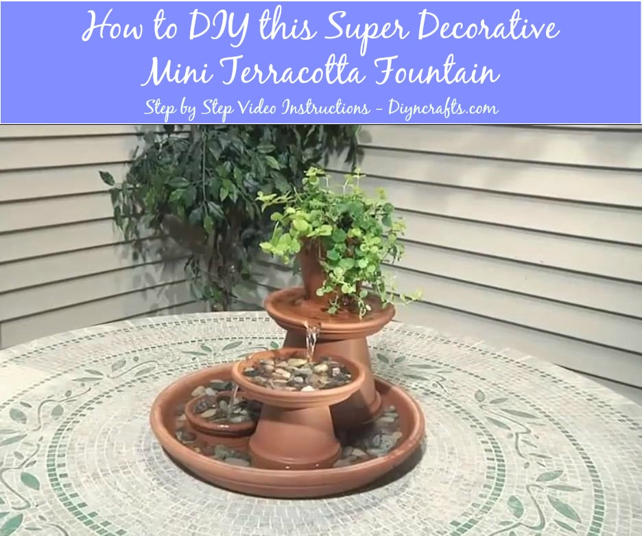How to DIY this Super Decorative Mini Terracotta Fountain