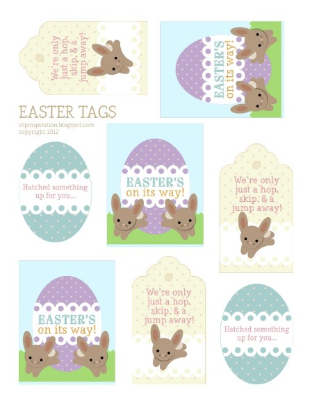 Easter Tag Printables - 40 Crafty Easter Printables for Perfect Holiday Projects