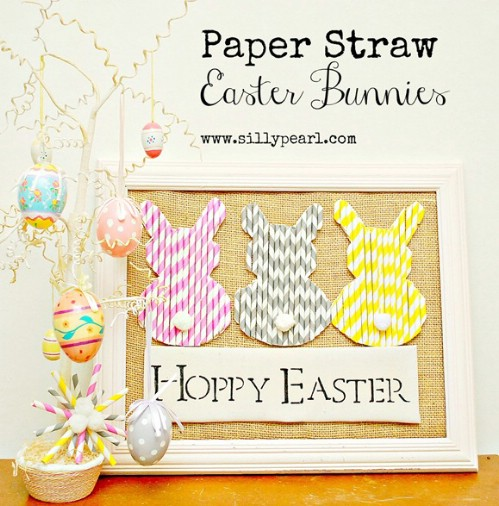 Paper Straw Bunnies - 80 Fabulous Easter Decorations You Can Make Yourself
