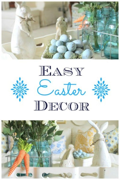 Coffee Table Display - 80 Fabulous Easter Decorations You Can Make Yourself