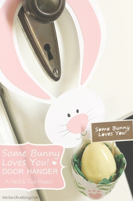 Door Hanger Printable - 40 Crafty Easter Printables for Perfect Holiday Projects