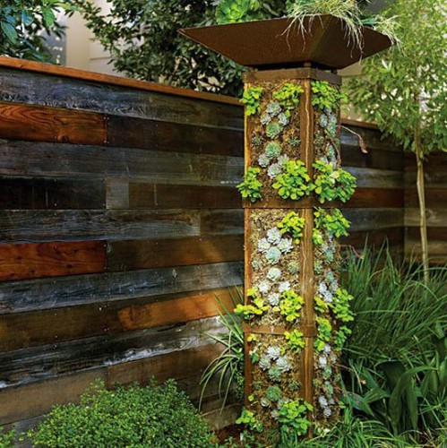 Vertical Garden Tower - 40 Genius Space-Savvy Small Garden Ideas and Solutions