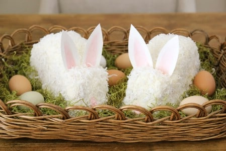 Coconut Cake Centerpiece - 40 Beautiful DIY Easter Centerpieces to Dress Up Your Dinner Table
