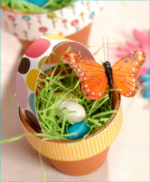 Terra Cotta Easter Baskets
