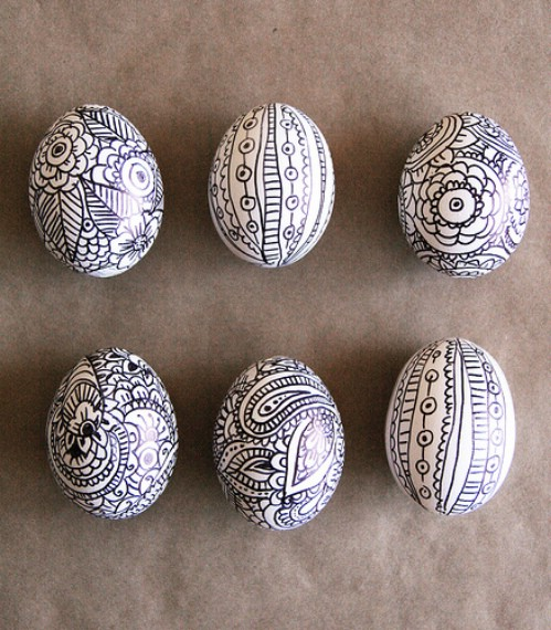 Doodle Easter Eggs - 80 Creative and Fun Easter Egg Decorating and Craft Ideas