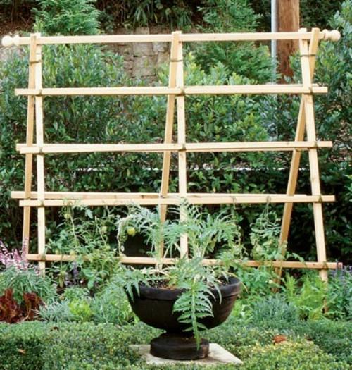 Garden Trellis - 40 Genius Space-Savvy Small Garden Ideas and Solutions