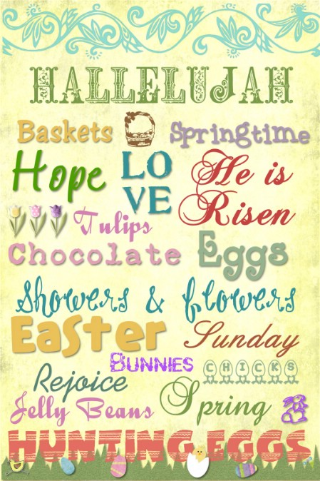 Easter Subway Art Printables - 40 Crafty Easter Printables for Perfect Holiday Projects