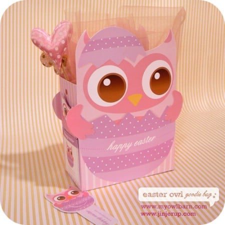 Owl Goodie Bag and Bookmark Printables - 40 Crafty Easter Printables for Perfect Holiday Projects