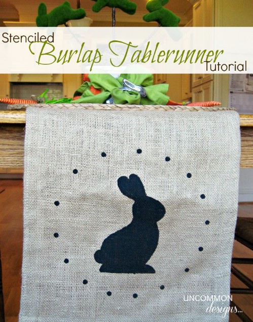 Burlap Table Runner - 80 Fabulous Easter Decorations You Can Make Yourself