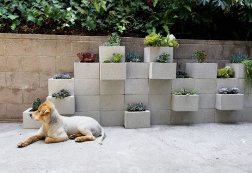 Cinder Wall Garden - 40 Genius Space-Savvy Small Garden Ideas and Solutions