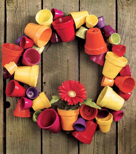Fiesta Wreath - 40 Creative DIY Easter Wreath Ideas to Beautify Your Home