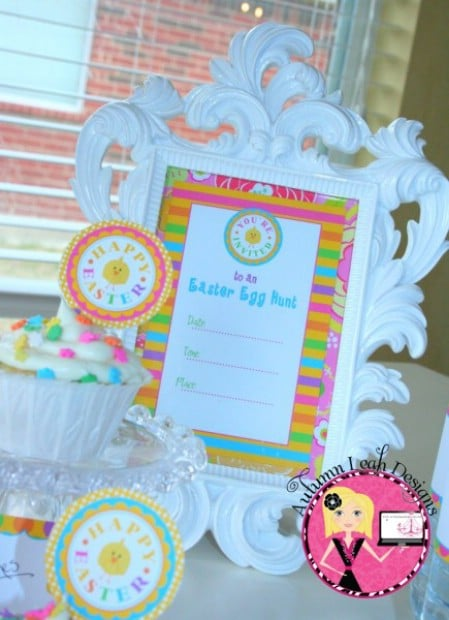 Colorful Easter Party Printables - 40 Crafty Easter Printables for Perfect Holiday Projects