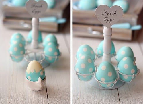Gorgeous Polka Dot Easter Eggs - 80 Creative and Fun Easter Egg Decorating and Craft Ideas
