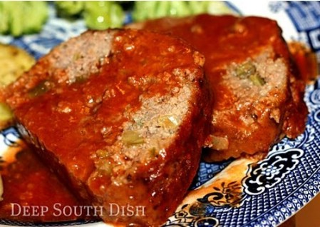 Creole Meatloaf with Tomato Gravy