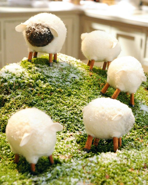 Felted Sheep - 80 Fabulous Easter Decorations You Can Make Yourself