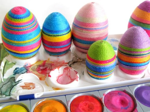 Craft Thread Easter Eggs - 80 Creative and Fun Easter Egg Decorating and Craft Ideas