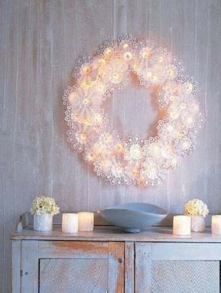 Paper Doily Wreath - 40 Creative DIY Easter Wreath Ideas to Beautify Your Home