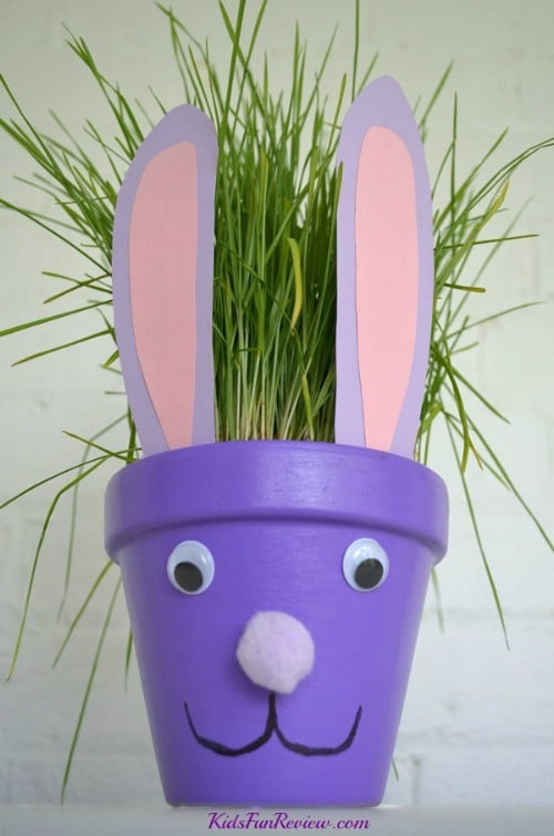 Easter Bunny Flower Pots - 80 Fabulous Easter Decorations You Can Make Yourself