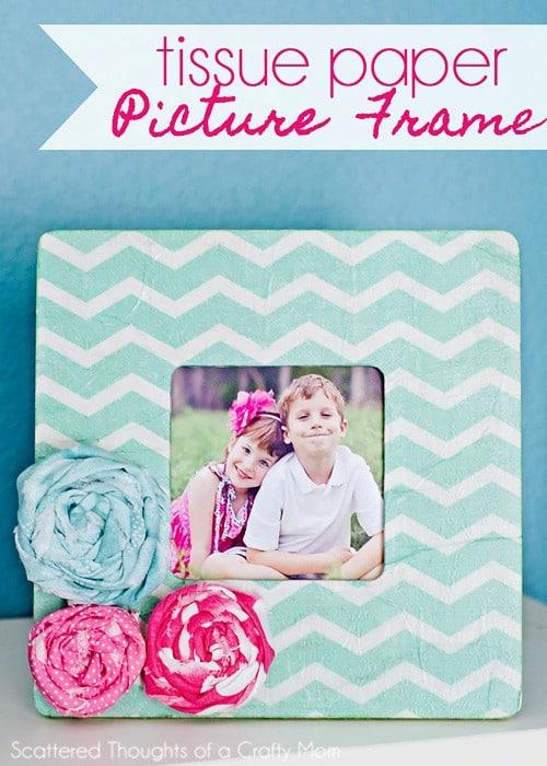 Tissue Paper Photo Frame