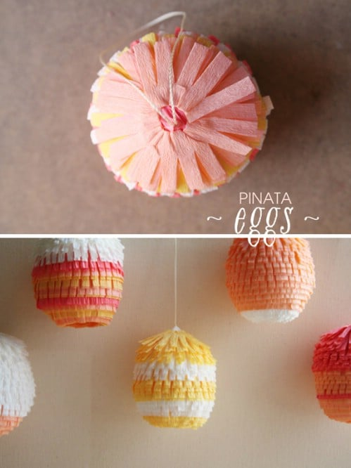 Egg Piñatas - 80 Fabulous Easter Decorations You Can Make Yourself