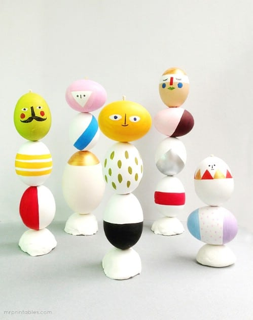 Sculpture Easter Eggs - 80 Creative and Fun Easter Egg Decorating and Craft Ideas