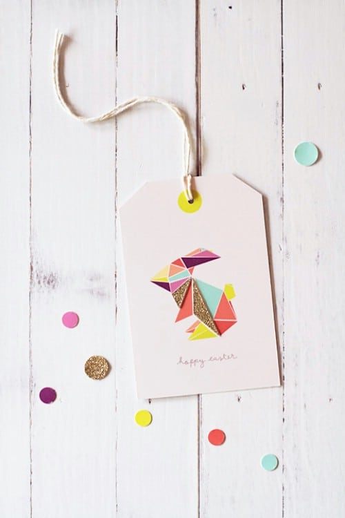 Origami Easter Tags - 80 Fabulous Easter Decorations You Can Make Yourself
