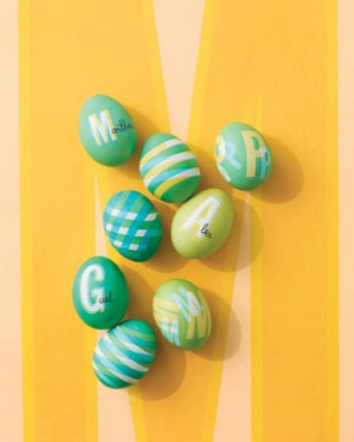 Patterned Easter Eggs - 80 Creative and Fun Easter Egg Decorating and Craft Ideas