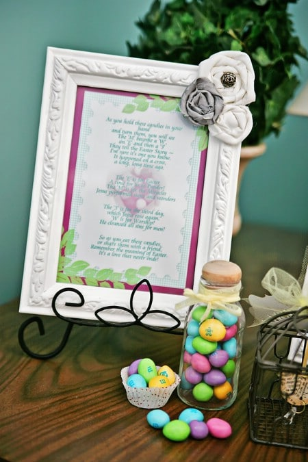 Easter M&Ms Poem Printable - 40 Crafty Easter Printables for Perfect Holiday Projects