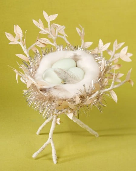 Eggs in a Nest - 40 Beautiful DIY Easter Centerpieces to Dress Up Your Dinner Table