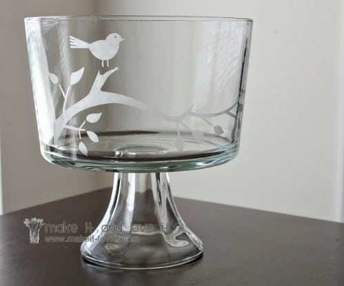 Etched Glass Trifle Bowl