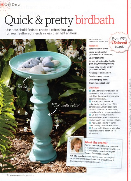 Add A Bird Bath - 150 Remarkable Projects and Ideas to Improve Your Home's Curb Appeal
