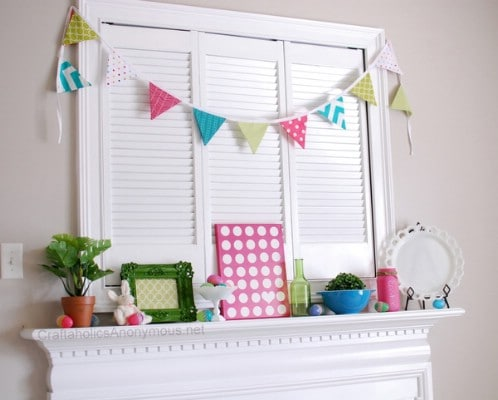 Easter Mantel - 80 Fabulous Easter Decorations You Can Make Yourself