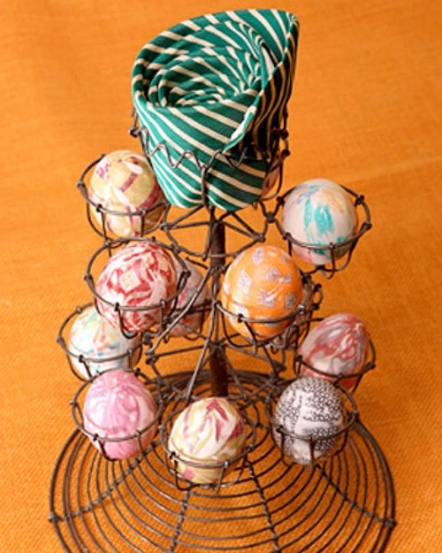 Silk Tie Easter Eggs - 80 Creative and Fun Easter Egg Decorating and Craft Ideas