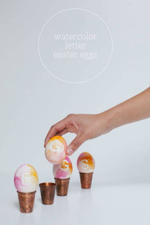 Watercolor Lettered Easter Eggs - 80 Creative and Fun Easter Egg Decorating and Craft Ideas