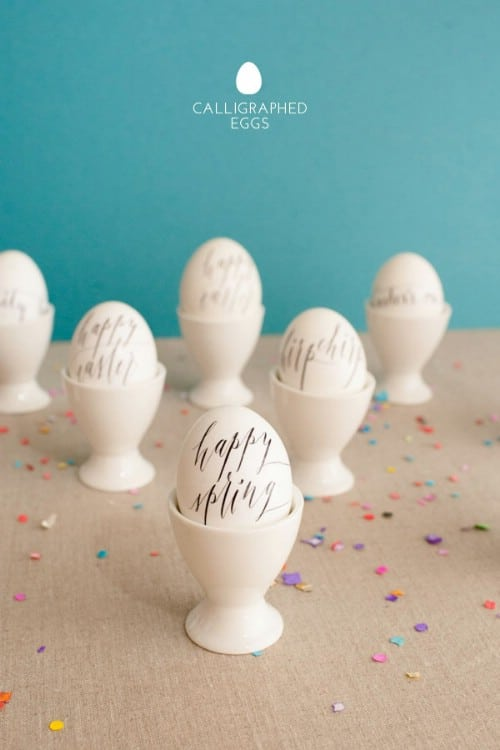 Calligraphy Easter Eggs - 80 Creative and Fun Easter Egg Decorating and Craft Ideas