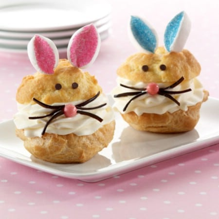 Bunny Cream Puffs - 100 Easy and Delicious Easter Treats and Desserts
