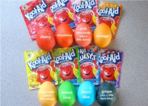 Kool-Aid Easter Eggs - 80 Creative and Fun Easter Egg Decorating and Craft Ideas