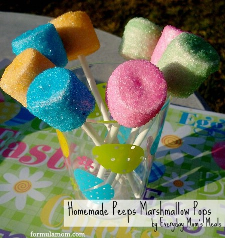Homemade Peeps Marshmallow Pops - 100 Easy and Delicious Easter Treats and Desserts