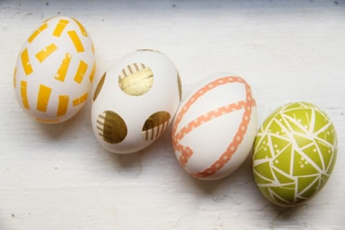 Washi Tape Easter Eggs - 80 Creative and Fun Easter Egg Decorating and Craft Ideas