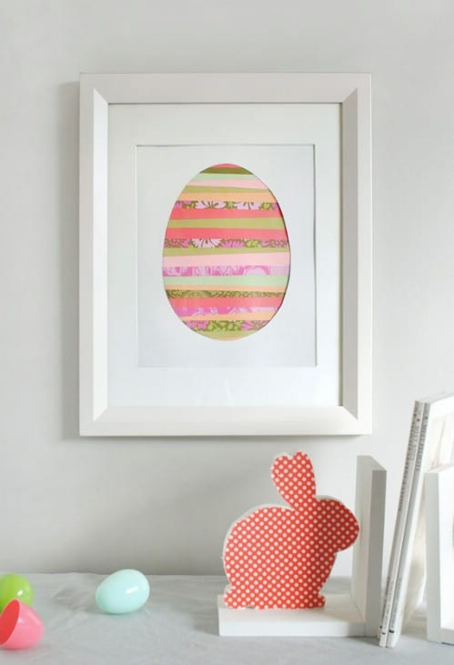 Paper Strip Egg Art - 80 Fabulous Easter Decorations You Can Make Yourself