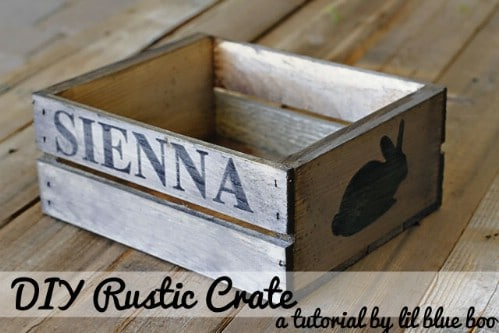 Rustic Spring Crate - 80 Fabulous Easter Decorations You Can Make Yourself