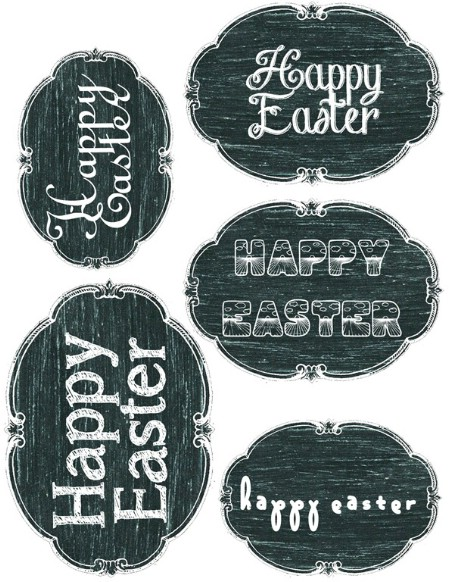 Easter Chalkboard Printables - 40 Crafty Easter Printables for Perfect Holiday Projects