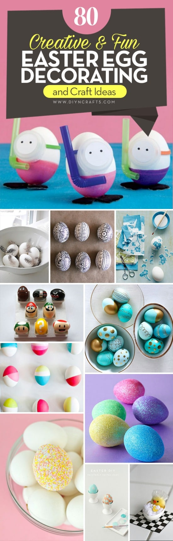 80 Creative And Fun Easter Egg Decorating And Craft Ideas Diy Crafts