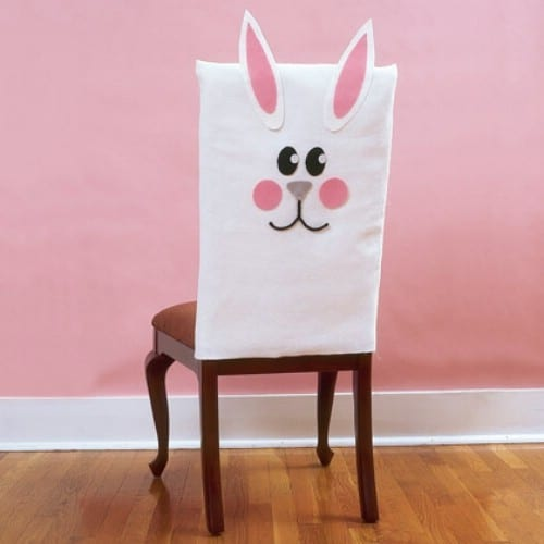 Bunny Chair Covers - 80 Fabulous Easter Decorations You Can Make Yourself